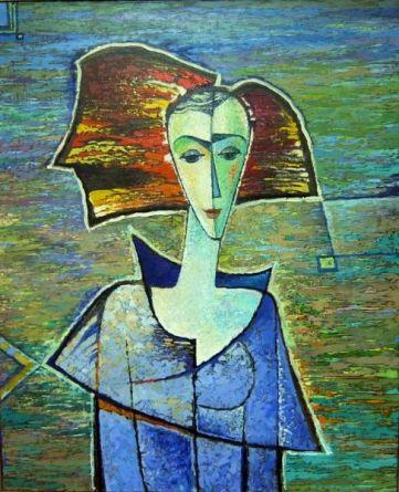 Портрет на синем