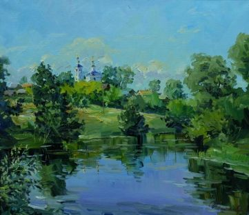 Август на реке Ушне