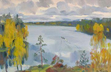 Октябрь на озере